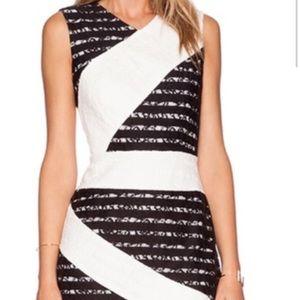 BCBG Maxazria Dalia Sleeveless Ribbon  Dress